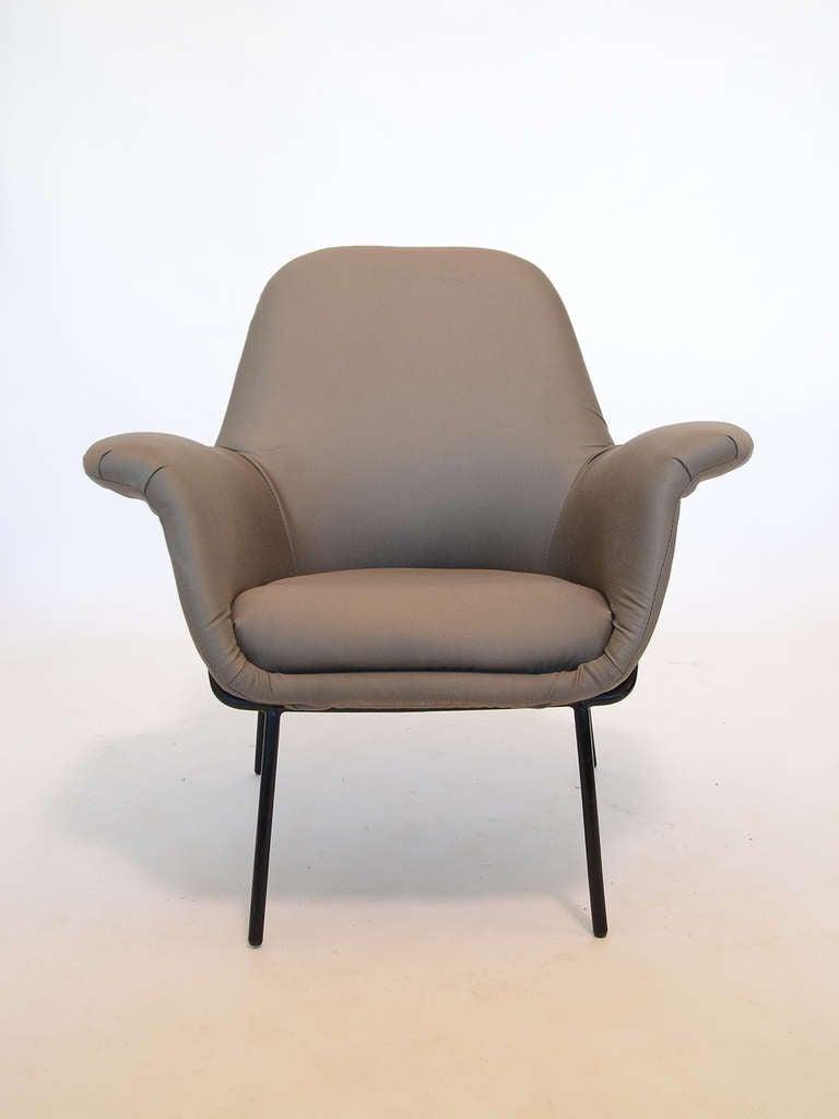 "Steel Giancarlo De Carlo ""Lucania"" Lounge Chair by Arflex For Sale"
