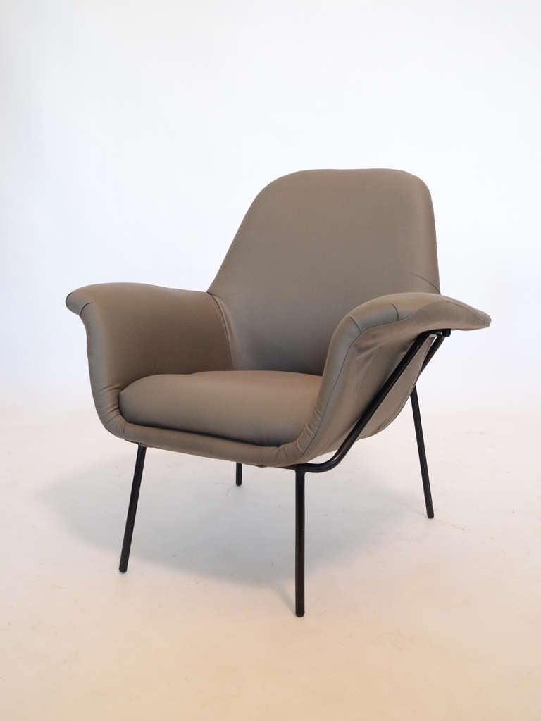 "Giancarlo De Carlo ""Lucania"" Lounge Chair by Arflex For Sale 1"