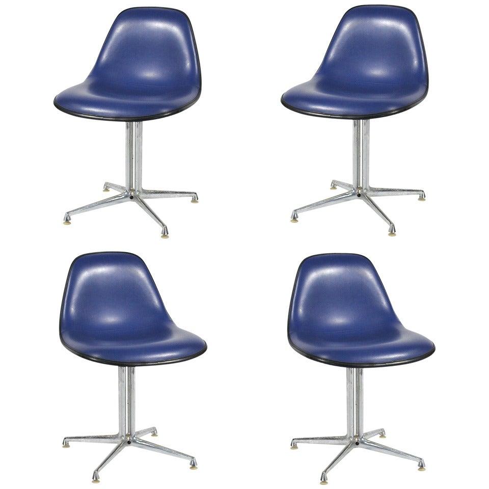 Set of Four Eames / Girard La Fonda Side Chairs by Herman Miller