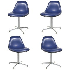 Set of Four Eames / Girard La Fonda Side Chairs by Herman Miller