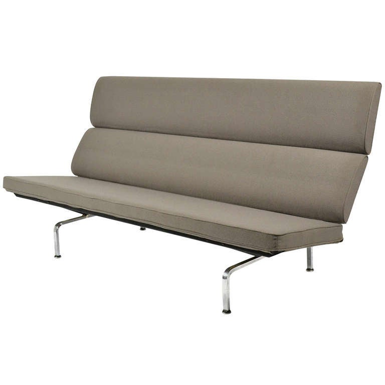 Elegant Early Eames Sofa Compact By Herman Miller For Sale