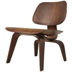 Early Evans Production Walnut LCW by Charles and Ray Eames