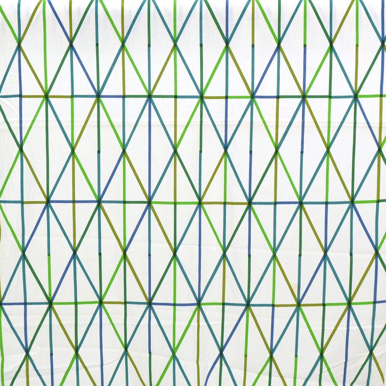 Alexander Girard Rare Quot Grid Quot Fabric At 1stdibs
