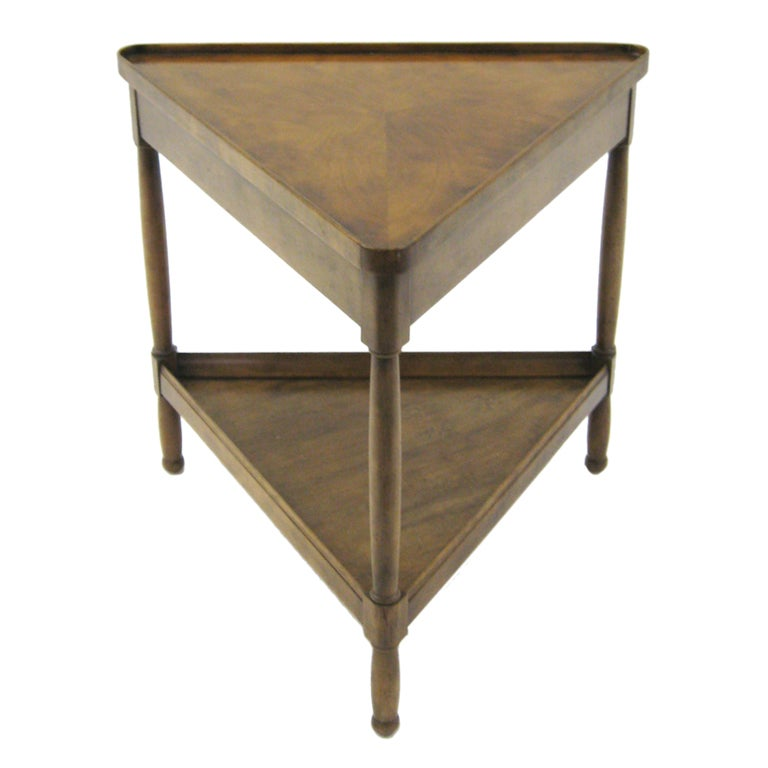 Triangular Side End Table By Baker At 1stdibs