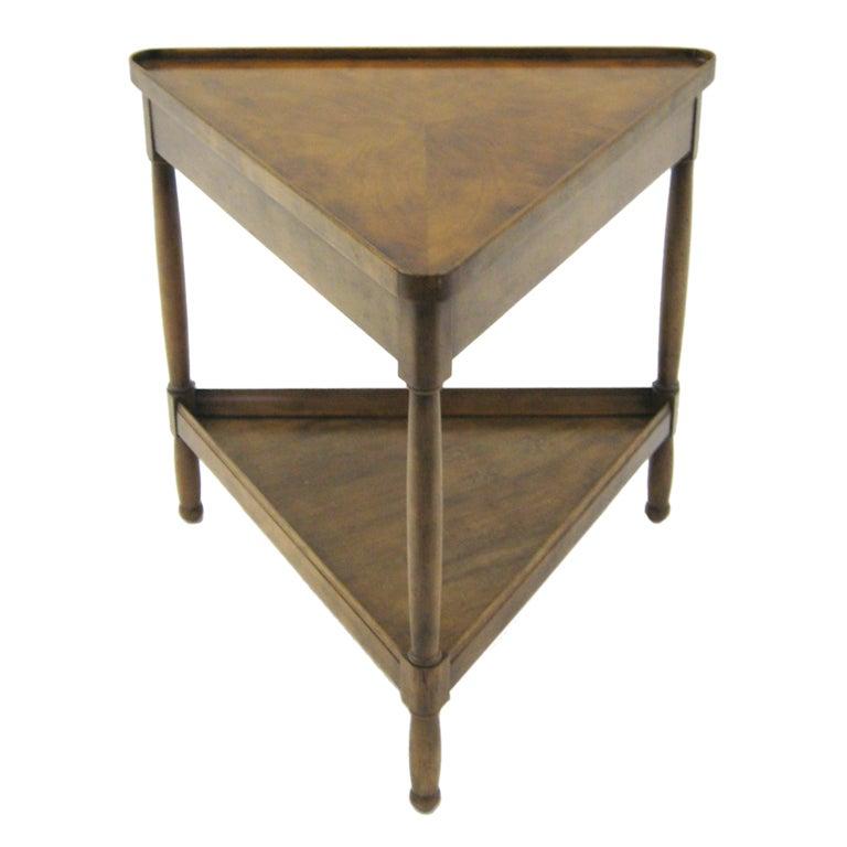 triangular side end table by baker. Black Bedroom Furniture Sets. Home Design Ideas