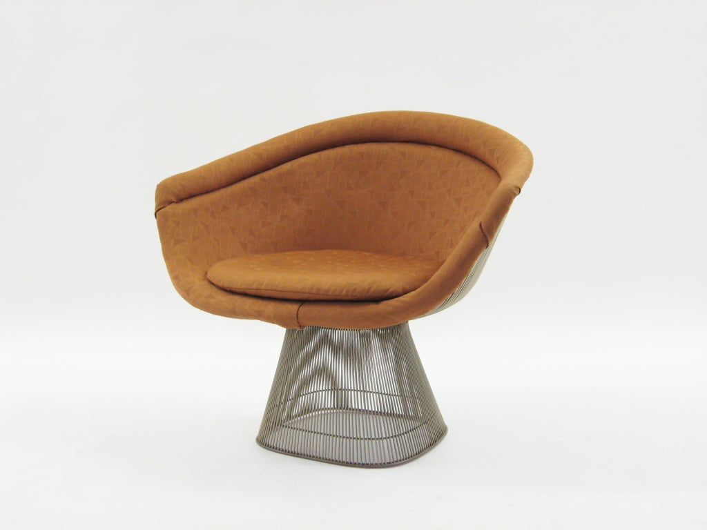 Set Of 4 Warren Platner Lounge Chairs By Knoll At 1stdibs