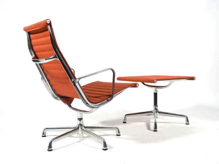 Eames aluminum group lounge chair and ottoman by herman - Herman miller lounge chair and ottoman ...