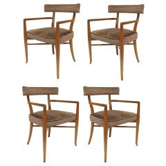 Set of four T.H. Robsjohn-Gibbings dining chairs by Widdicomb