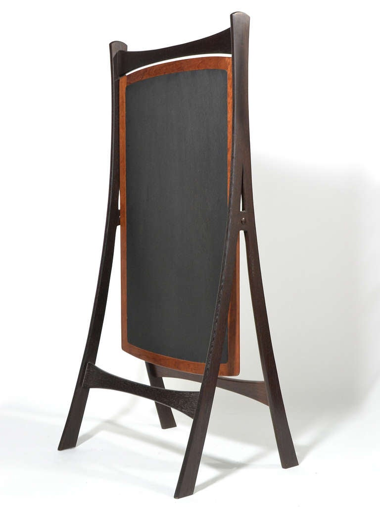 Danish wenge and teak cheval dressing mirror at 1stdibs for Miroir wenge