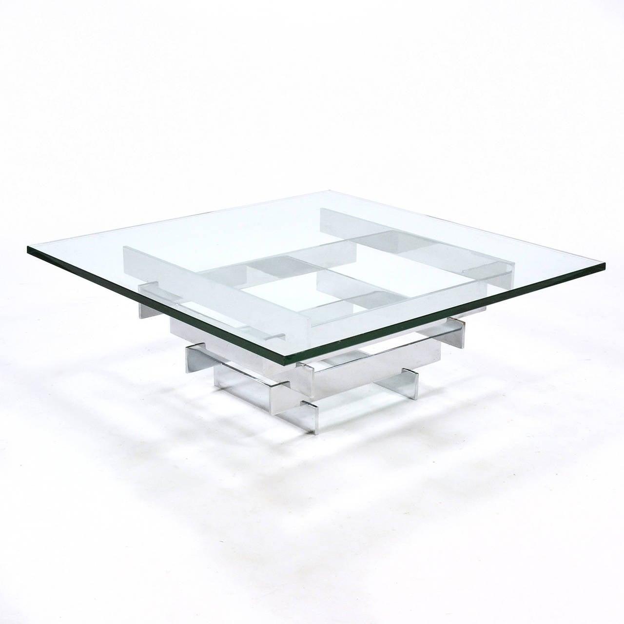 Cut Glass Paul Mayen Cocktail Table by Habitat For Sale