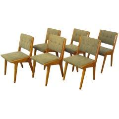 Set of six  Jens Risom side chairs by Knoll