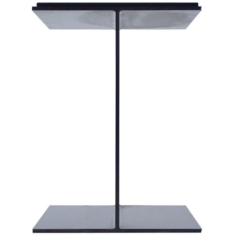 Steel I-Beam Pedestal by Don Powell and Robert Kleinschmidt