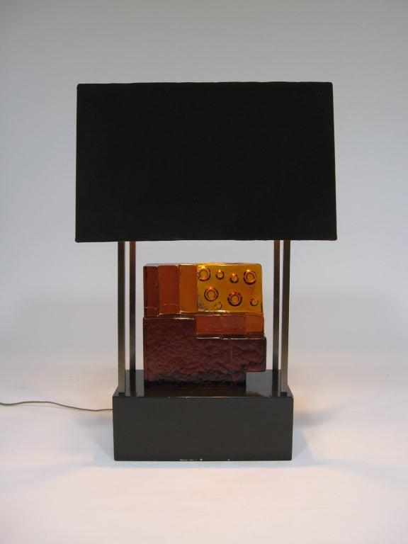 Custom Art Glass Sculpture Lamp from Arthur Elrod Interior For Sale 4