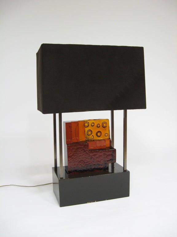American Custom Art Glass Sculpture Lamp from Arthur Elrod Interior For Sale