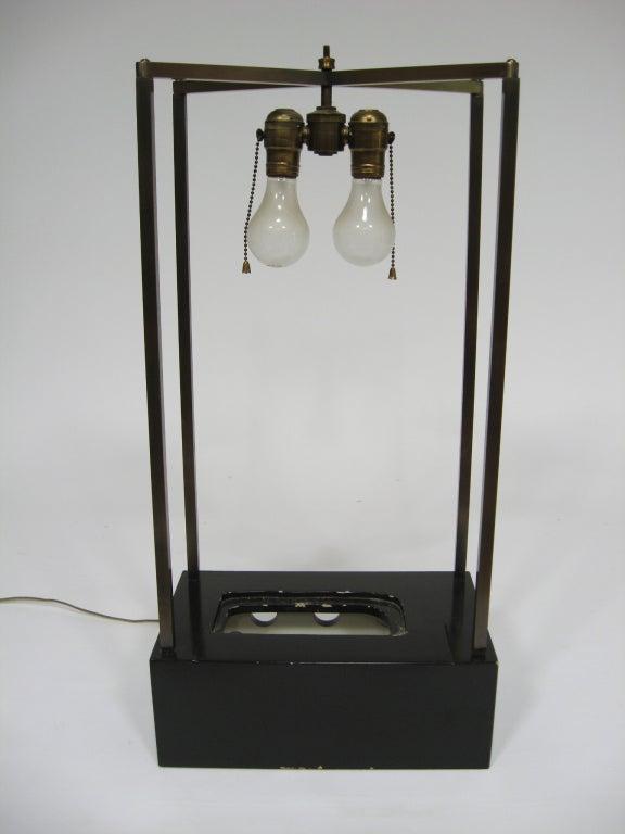 Custom Art Glass Sculpture Lamp from Arthur Elrod Interior For Sale 1
