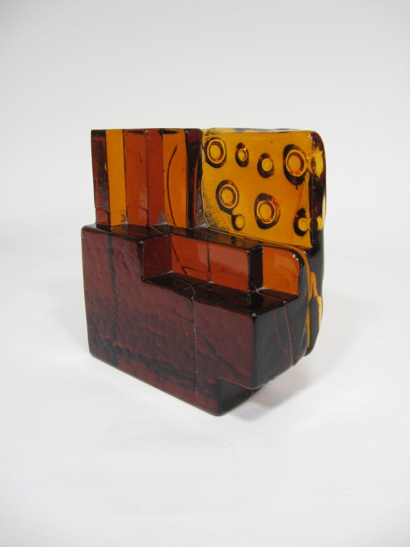 Custom Art Glass Sculpture Lamp from Arthur Elrod Interior For Sale 2