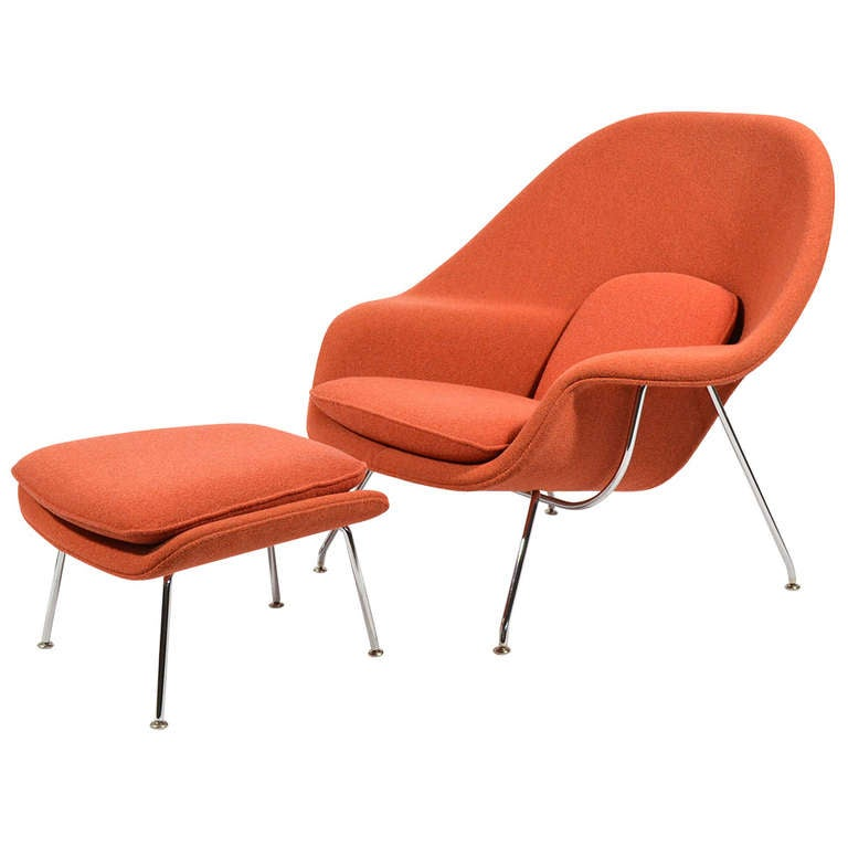 Eero saarinen womb chair by knoll at 1stdibs - Vintage womb chair for sale ...