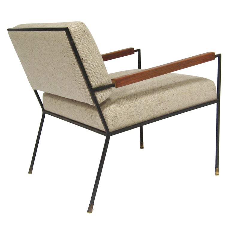 Iron framed lounge chair by Kasparian at 1stdibs