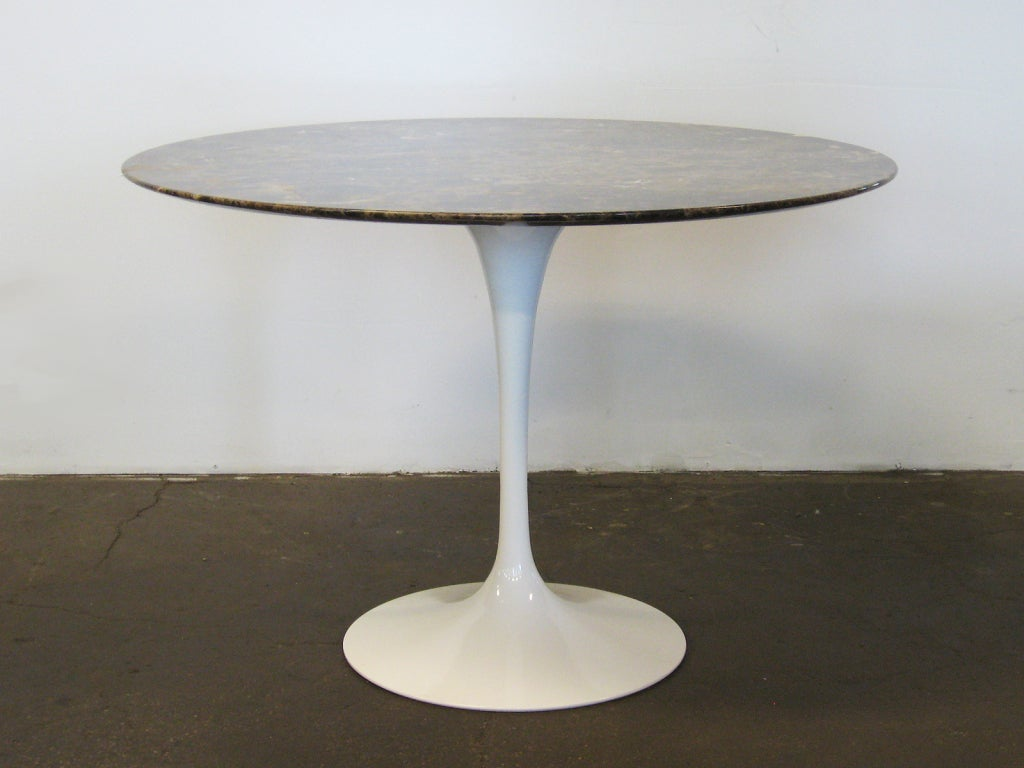 Eero Saarinen Tulip Table With Marble Top By Knoll At 1stdibs