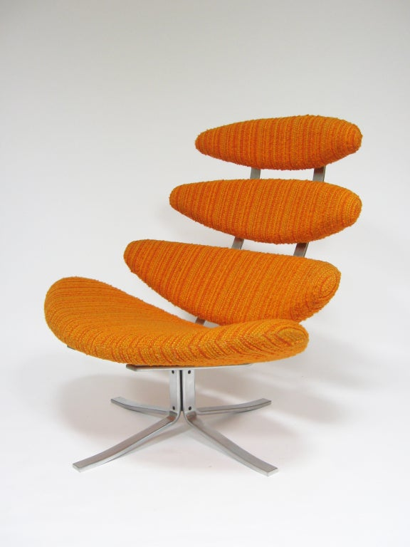 Danish Poul Volther Corona chair by Erik Jorgenen For Sale