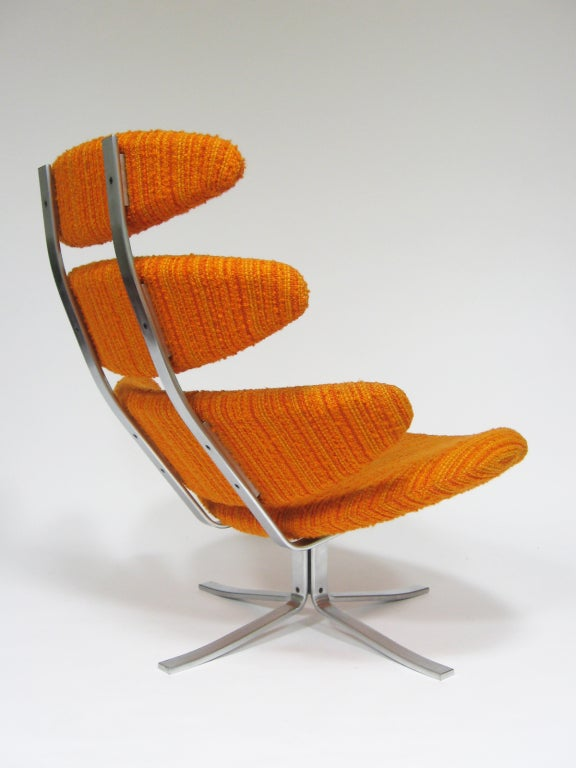 Poul Volther Corona chair by Erik Jorgenen In Excellent Condition For Sale In Highland, IN