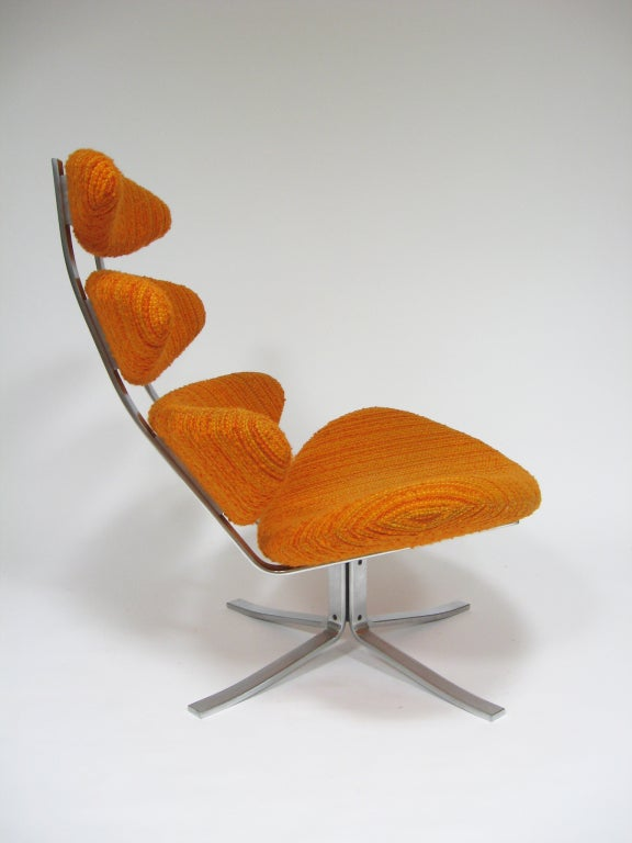 Mid-20th Century Poul Volther Corona chair by Erik Jorgenen For Sale