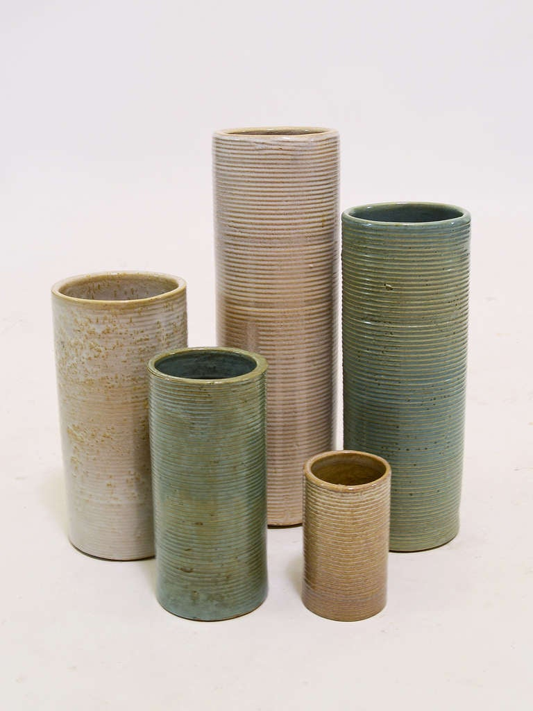 collection of zanesville stone age modern vases at stdibs - collection of zanesville stone age modern