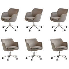 Executive Armchairs with Casters by Nicos Zographos