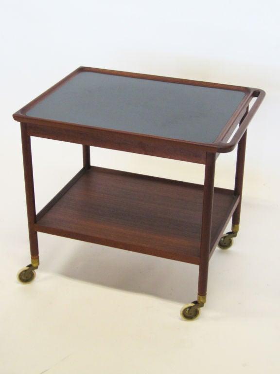 Scandinavian Modern Danish Rosewood Serving Cart by Pontoppidan For Sale