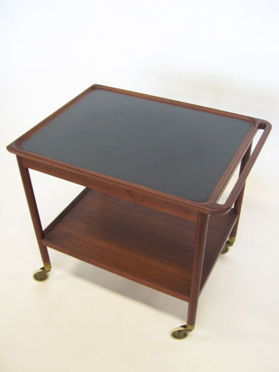 Mid-20th Century Danish Rosewood Serving Cart by Pontoppidan For Sale