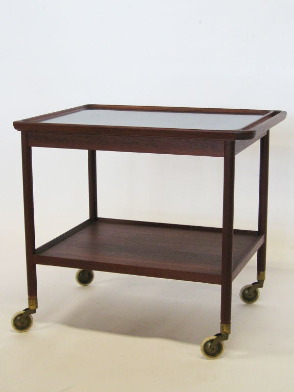 Danish Rosewood Serving Cart by Pontoppidan For Sale 2