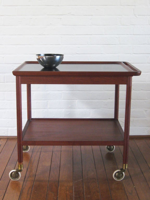 Danish Rosewood Serving Cart by Pontoppidan For Sale 3