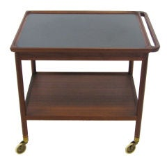 Danish Rosewood Serving Cart by Pontoppidan