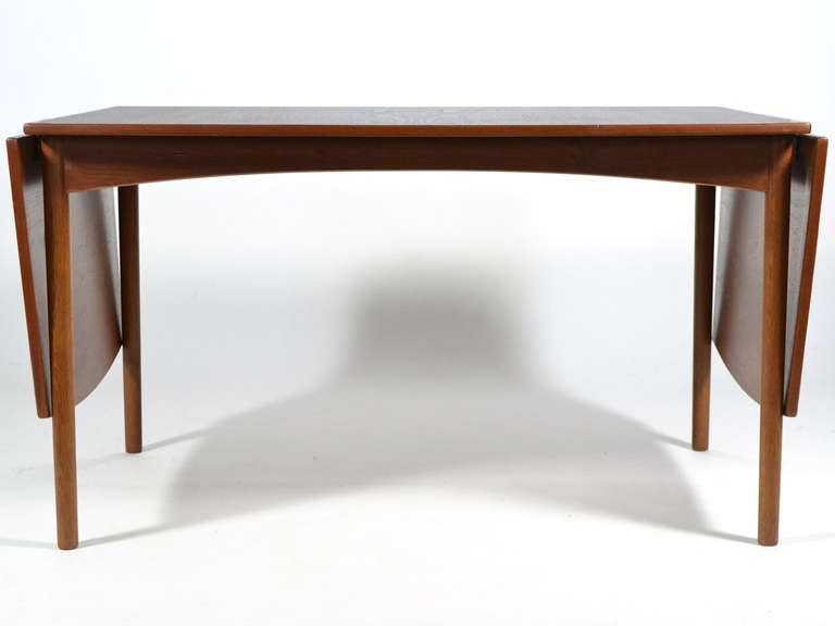 Teak Drop-Leaf Table by Børge Mogensen For Sale 2