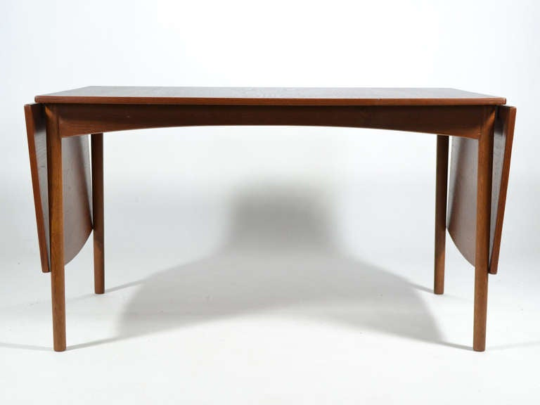 Danish Teak Drop-Leaf Table by Børge Mogensen For Sale