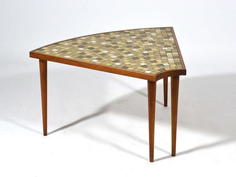 Pie Shaped Tile Topped Table By Gordon And Jane Martz At