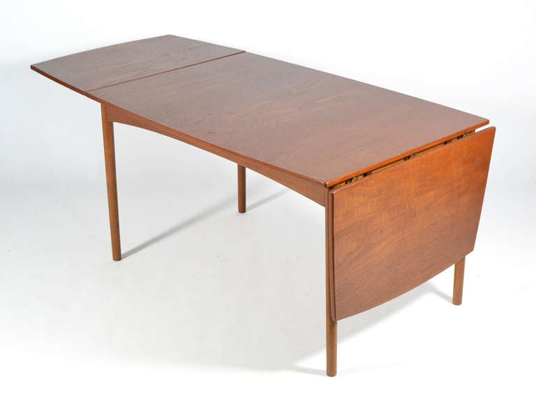 Mid-20th Century Teak Drop-Leaf Table by Børge Mogensen For Sale