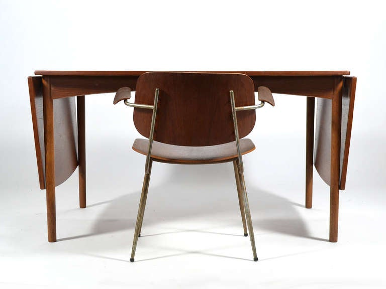 Teak Drop-Leaf Table by Børge Mogensen For Sale 3