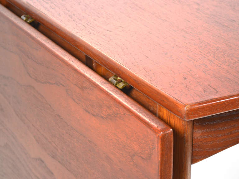 Teak Drop-Leaf Table by Børge Mogensen For Sale 1
