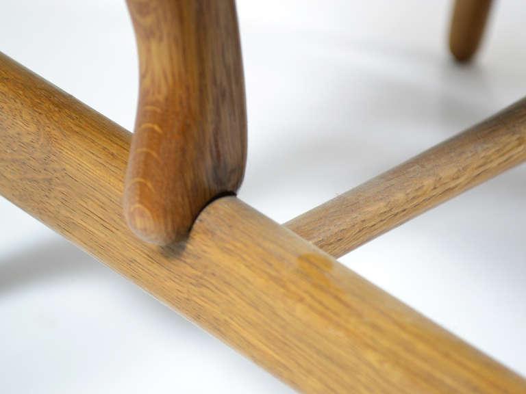 Rare Pair of Hans Wegner CH22 Easy Chairs by Carl Hansen 10