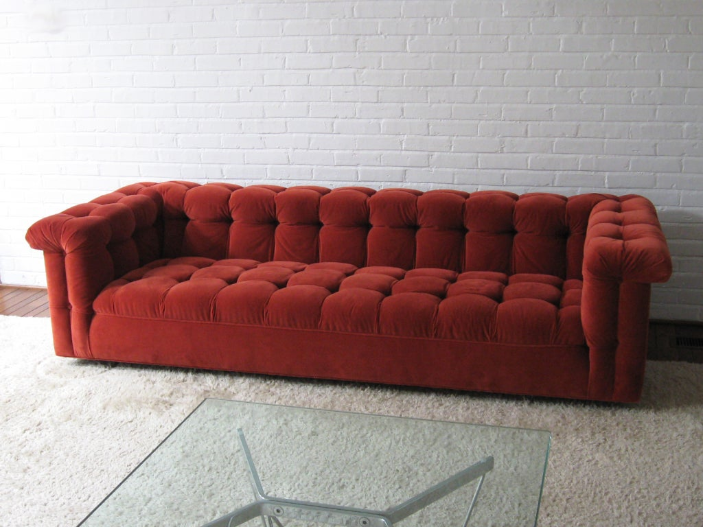 Edward Wormley model 5407 sofa by Dunbar in Jack Lenor Larsen 4
