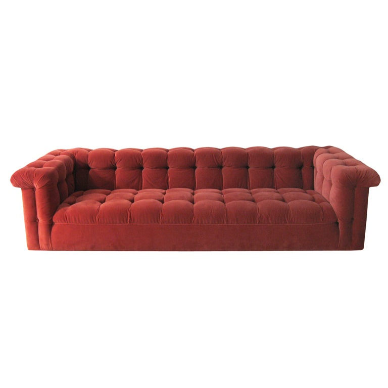 Edward Wormley model 5407 sofa by Dunbar in Jack Lenor Larsen 1