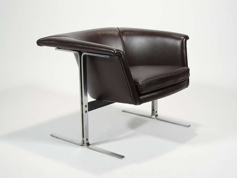 Mid-Century Modern Geoffrey Harcourt Model 042 Lounge Chair by Artifort For Sale