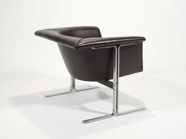 Mid-20th Century Geoffrey Harcourt Model 042 Lounge Chair by Artifort For Sale
