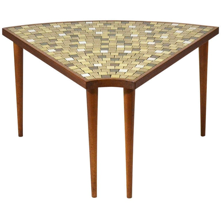 Pie shaped tile topped table by gordon and jane martz at 1stdibs - Archives departementales 33 tables decennales ...