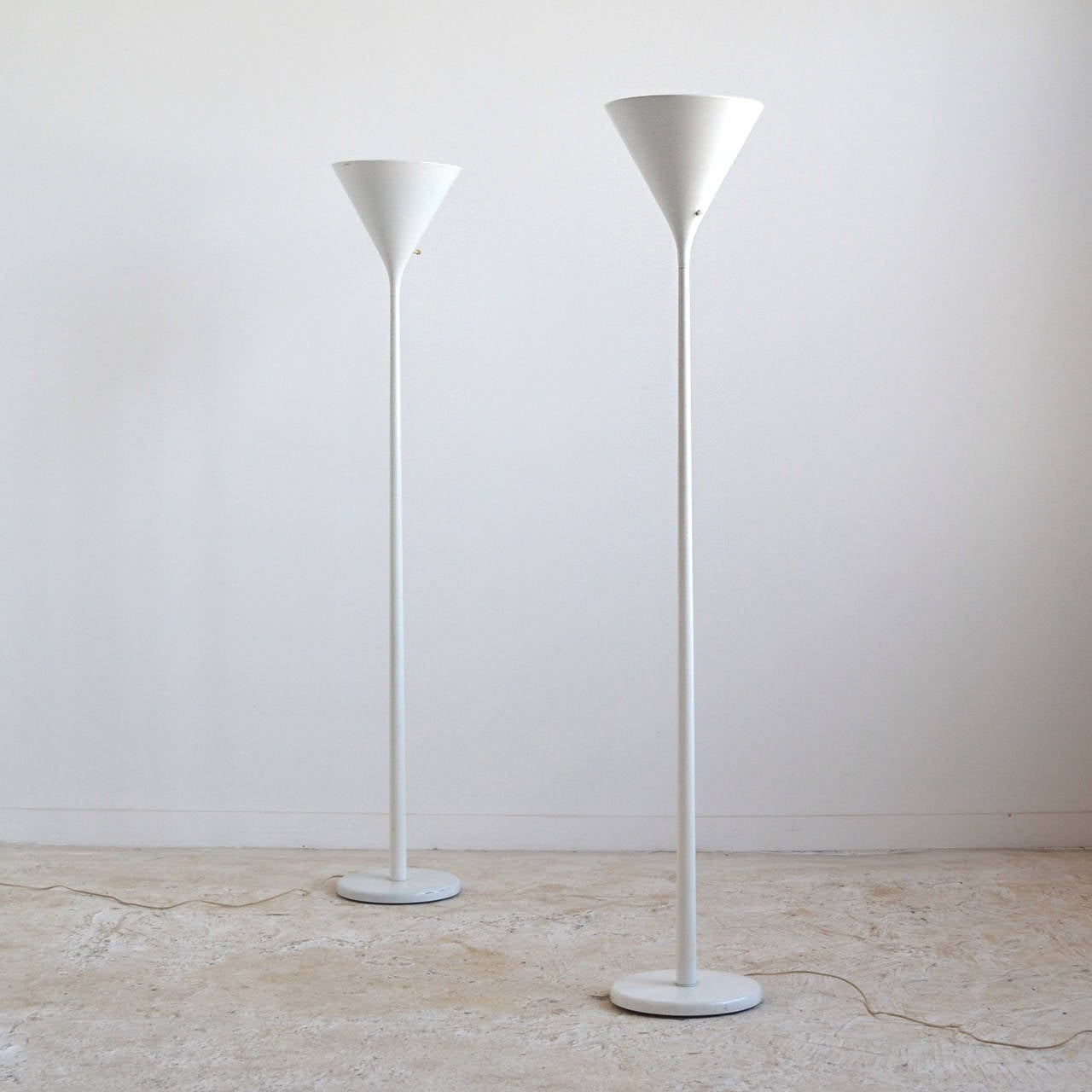 Nessen pair of torchiere floor lamps at 1stdibs for Contemporary torchiere floor lamps