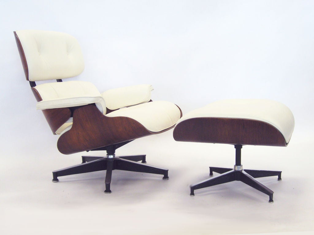 Eames Rosewood Lounge Chair And Ottoman By Herman Miller