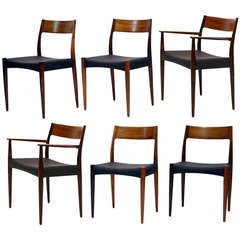 Set of 6 rosewood dining chairs by Arne Hovmand-Olsen