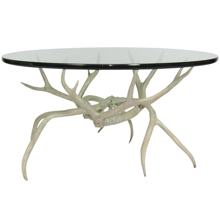 Arthur Court Aluminum Antler Cocktail Table At 1stdibs