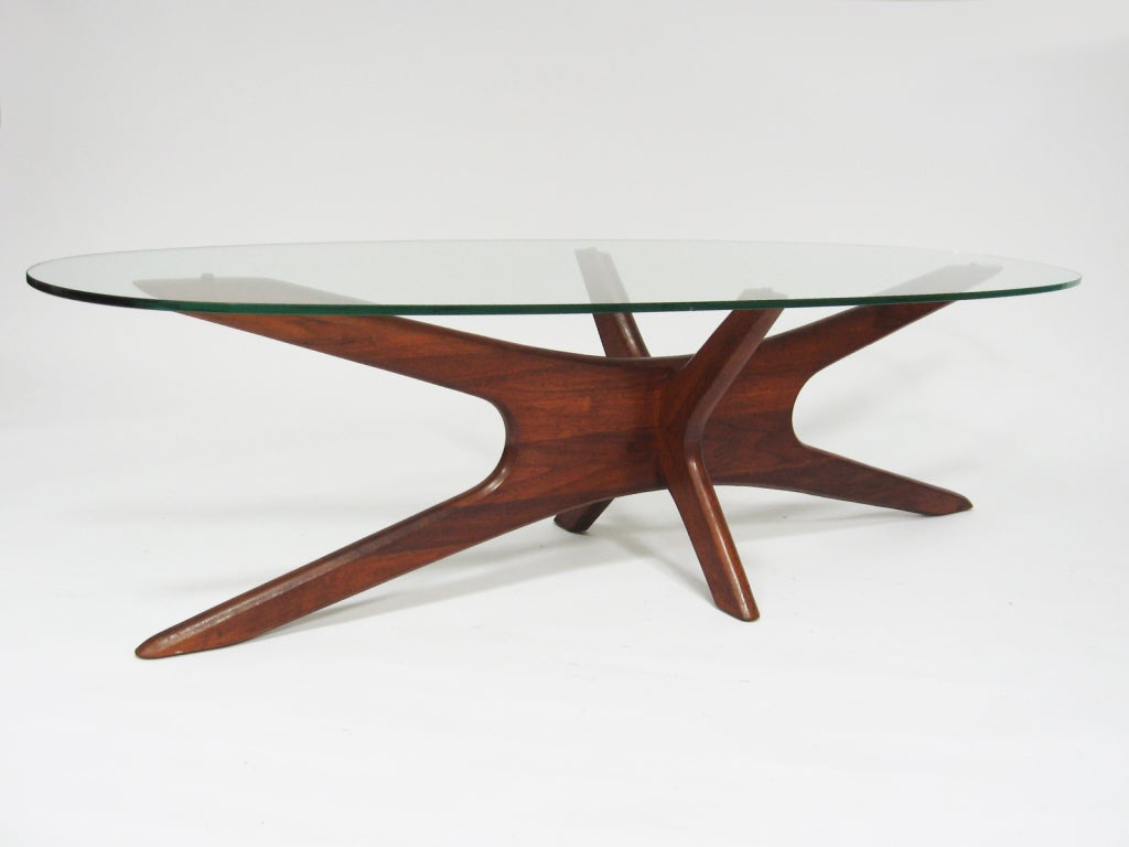 Adrian Pearsall coffee table with elliptical top by Craft